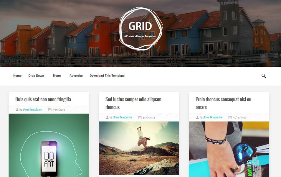 Grid-Responsive-Blogger-Template1 - 50+ Top Free Grid Style Blogger Templates 2019