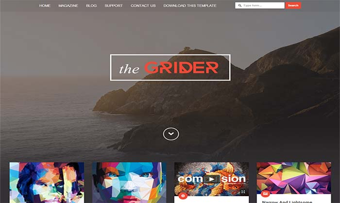 Grider-Blogger-Template - 50+ Top Free Portfolio Blogger Templates 2019