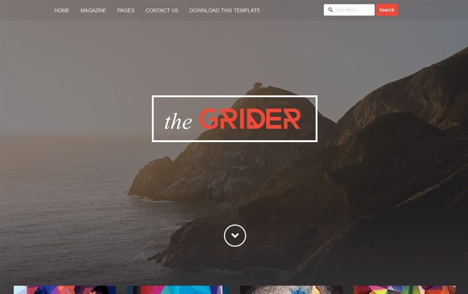 Grider-Responsive-Blogger-Template - 50+ Top Free Grid Style Blogger Templates 2019