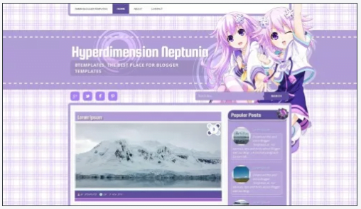 Hyperdimension - 50+ Top Free 3D Blogger Templates 2019