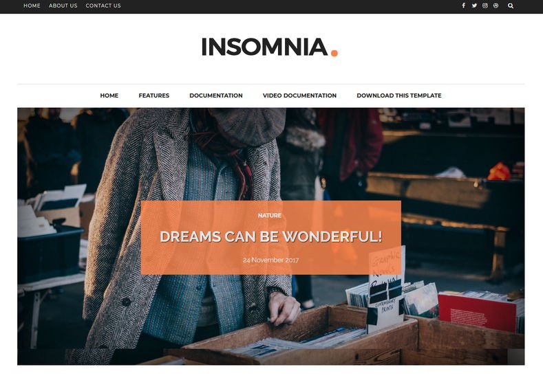 Insomnia-Blogger-Template-3 - 53+ Top BEST Free Minimalist Blogger Templates [year]