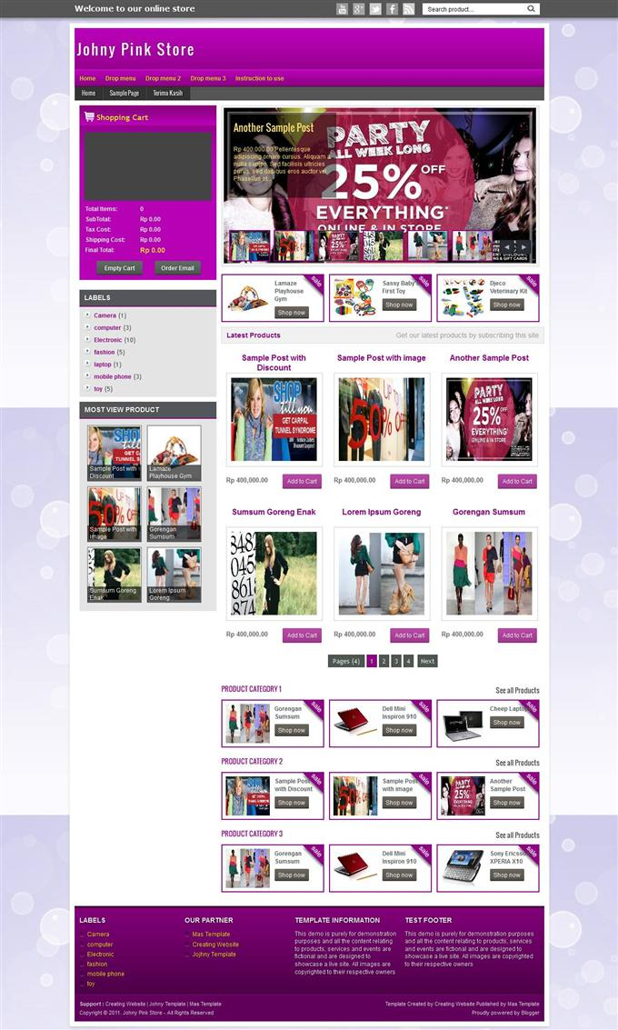 Johny-Palelu-Peang-Shopping-Blogger-Template-Custom - 60+ Top Free Ecommerce Blogger Templates [year]