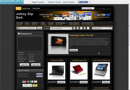 Johny-Sip-Deh-eCommerce-template-Custom-1 - 60+ Top Free Ecommerce Blogger Templates [year]