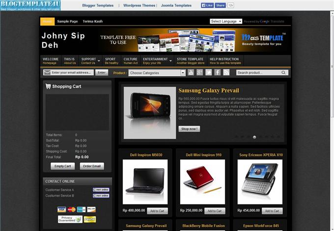 Johny-Sip-Deh-eCommerce-template-Custom - 60+ Top Free Ecommerce Blogger Templates [year]