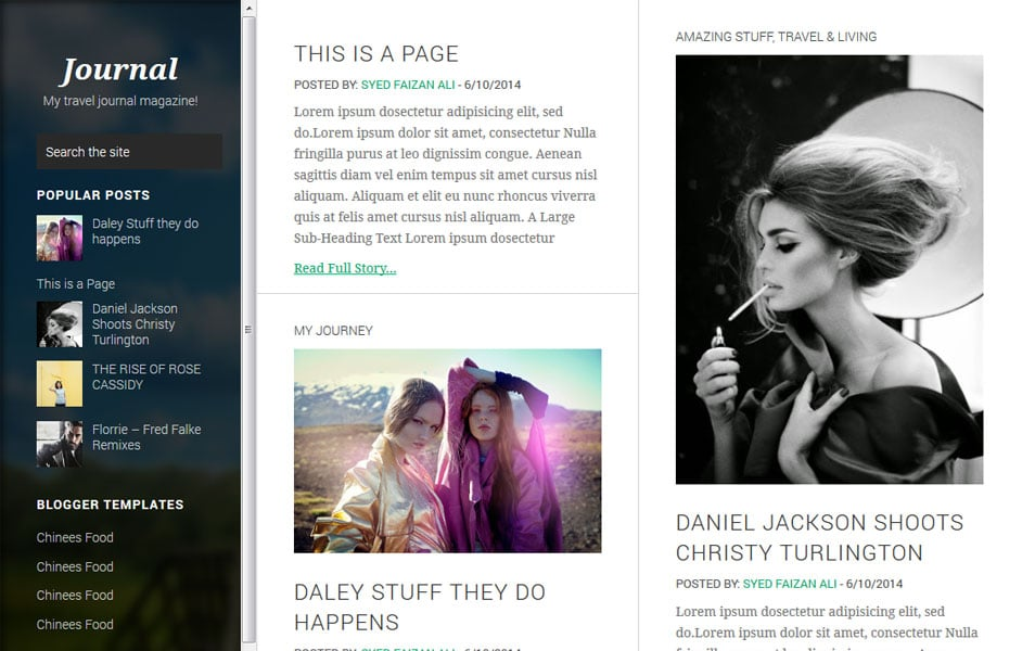Journey-Responsive-Blogger-Template - 50+ Top Free Grid Style Blogger Templates 2019