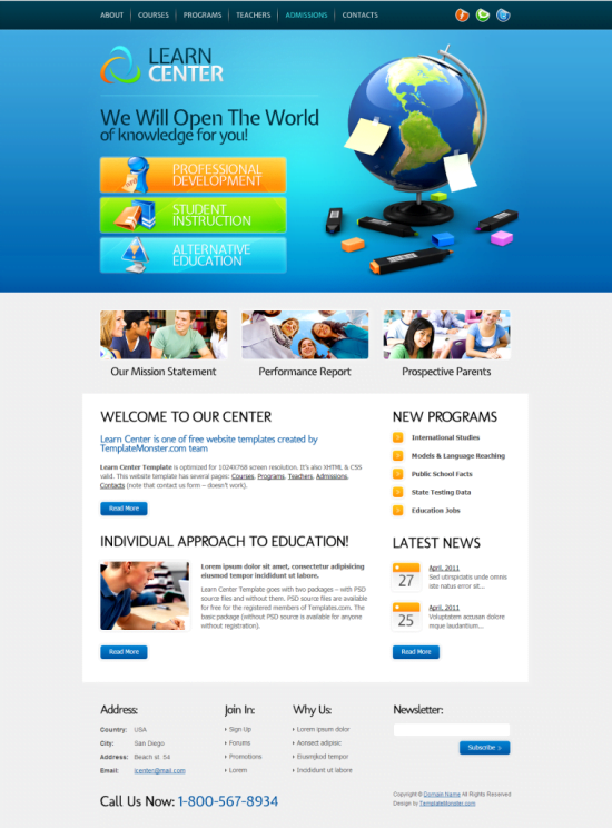 Learn-Center-Template1-757x1024 - 50+ Top Free Education Blogger Templates 2019