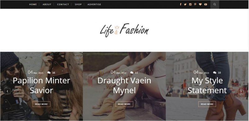 Life-Fashion-800x391 - 53+ Top BEST Free Minimalist Blogger Templates [year]