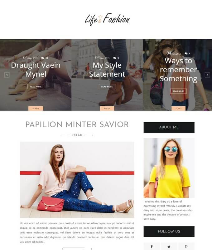 LifeFashion-Blogger-Template-1 - 50+ Top Free 3D Blogger Templates 2019