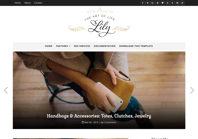 Lily-Fashion-Blogger-Template - 53+ Top BEST Free Minimalist Blogger Templates [year]