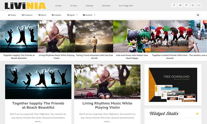 Livinia-Blogger-Template - 50+ Top Free Portfolio Blogger Templates 2019