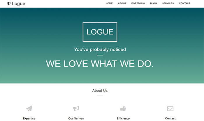 Logue-Blogger-Template - 50+ Top Free Portfolio Blogger Templates 2019