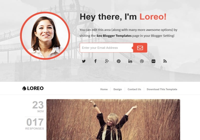Loreo-SEO-Blogger-Template - 54+ Top BEST Free One Page Blogger Templates [year]
