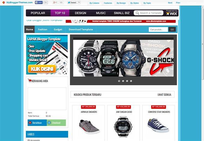Masgus-Market-Ecommerce-Custom - 60+ Top Free Ecommerce Blogger Templates [year]