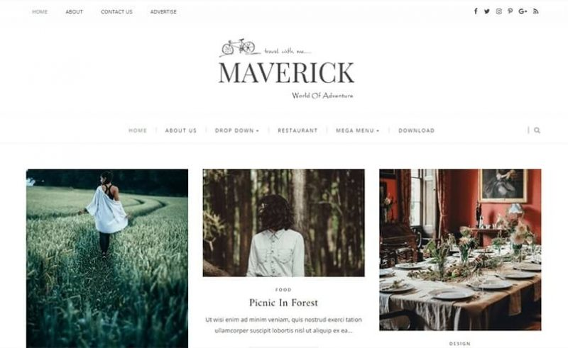 Maverick-800x491 - 53+ Top BEST Free Minimalist Blogger Templates [year]