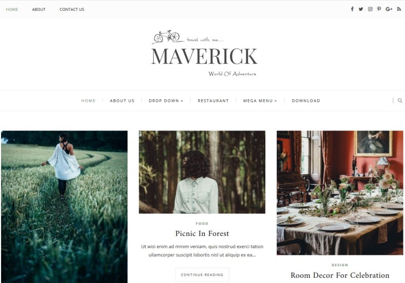 Maverick-Blogger-Template-1 - 54+ Top BEST Free One Page Blogger Templates [year]