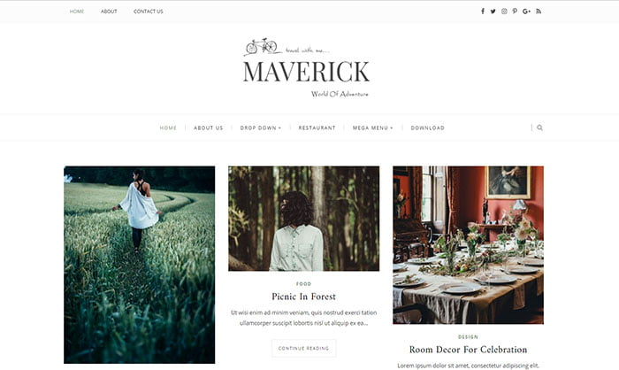Maverick-Blogger-Template - 50+ Top Free Portfolio Blogger Templates 2019