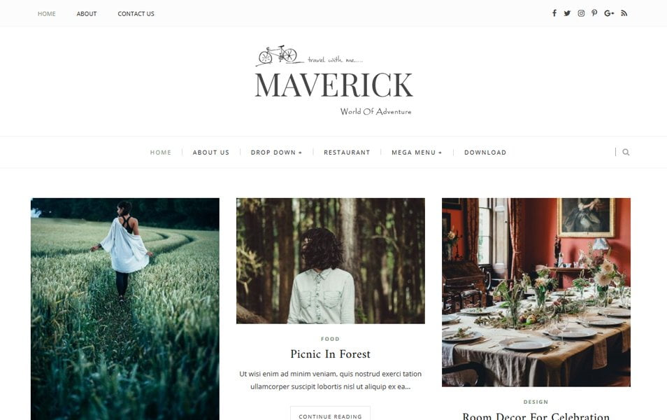 Maverick-Responsive-Blogger-Template - 53+ Blogger Top Free Grid Style Templates [year]