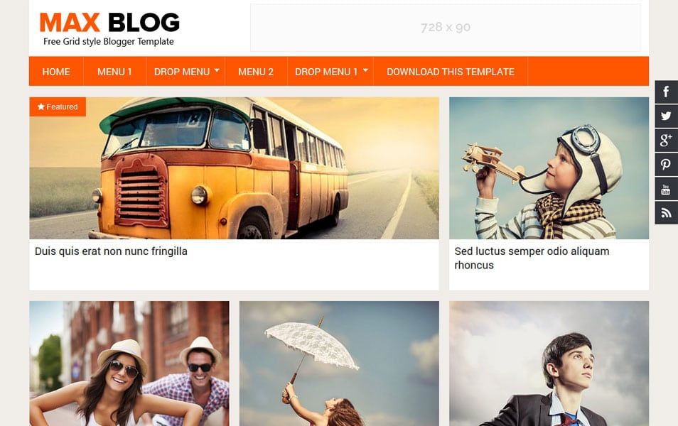 Max-Blog-Responsive-Blogger-Template1 - 53+ Blogger Top Free Grid Style Templates [year]