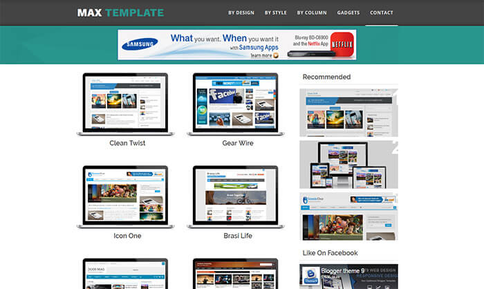 Max-Blogger-Template - 50+ Top Free Portfolio Blogger Templates 2019