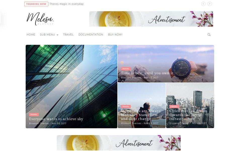 Melesa-Responsive-Blogger-Template - 111+ Blogger Top Free Magazine Style Templates [year]