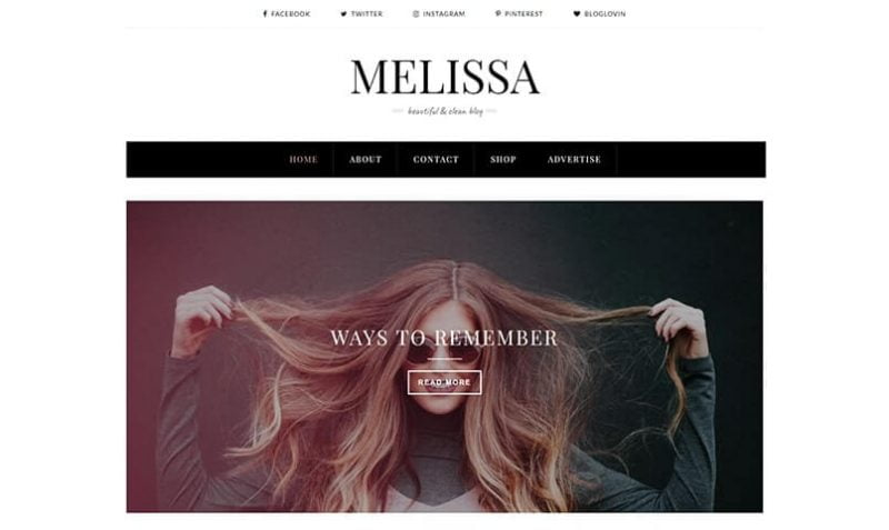 MelissA-800x477 - 53+ Top BEST Free Minimalist Blogger Templates [year]