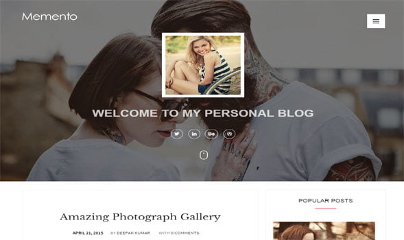 Memento-Responsive-Blogger-Template - 50+ Top Free Portfolio Blogger Templates [year]