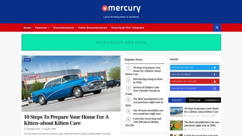 Mercury-Responsive-Blogger-Template