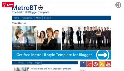 MetroBTK - 50+ Top Free Web 2.0 Blogger Templates 2019