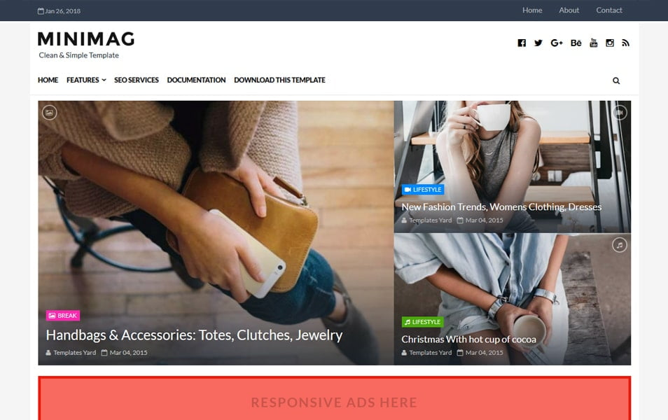 Minimag-Responsive-Blogger-Template - 111+ Blogger Top Free Magazine Style Templates [year]