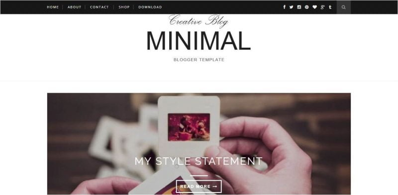 Minimal-800x393 - 53+ Top BEST Free Minimalist Blogger Templates [year]