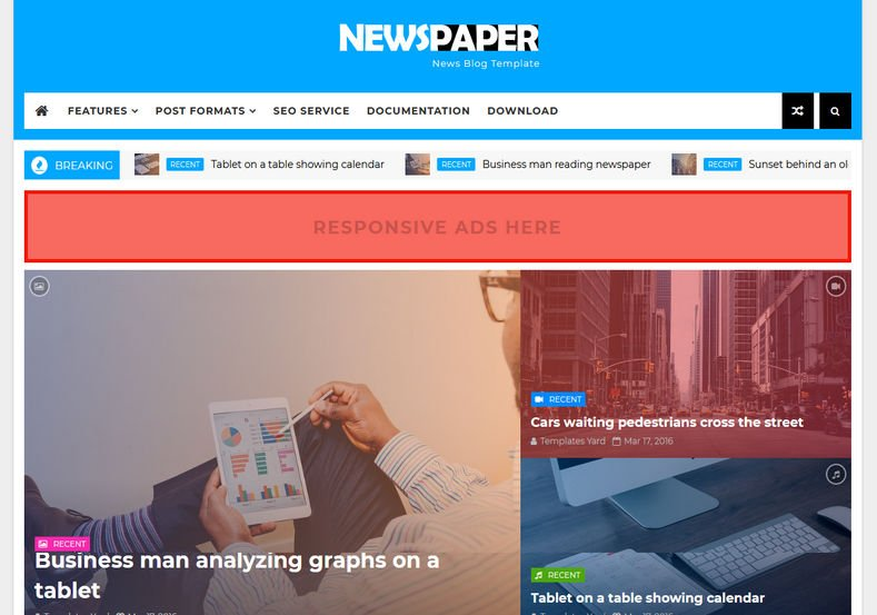 NewsPaper-Blogger-Template - 53+ Top BEST Free Minimalist Blogger Templates [year]