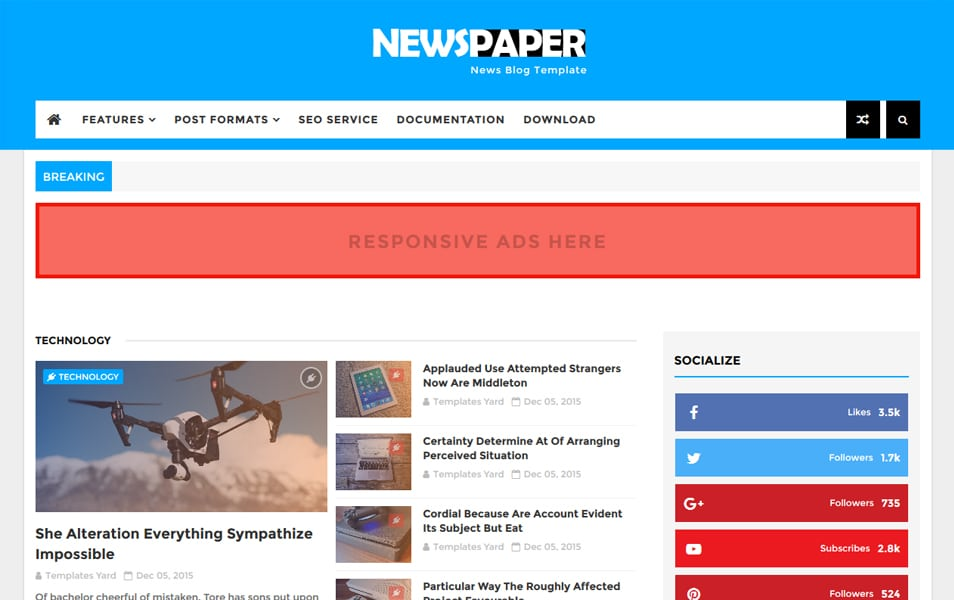 Newspaper-News-Blogger-Template - 111+ Blogger Top Free Magazine Style Templates [year]