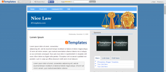 Nice-Law-1024x449 - 50+ Top Free Education Blogger Templates 2019