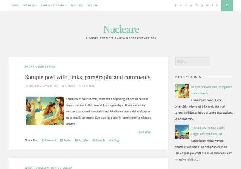 Nucleare-Blogger-Template-2 - 50+ Top Free Web 2.0 Blogger Templates [year]