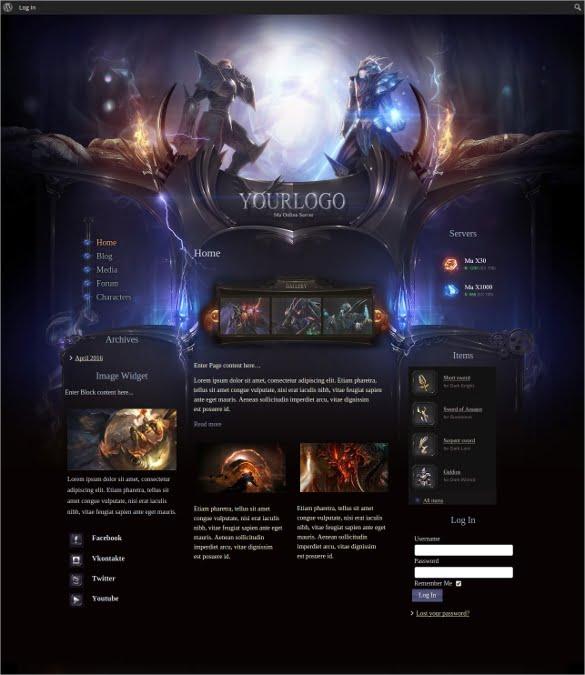 Online-Joomla-Gaming-Website-Template - 57+ Best Gaming HTML Website Templates [year]