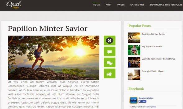 Opal-Elegant-Blogger-Template - 50+ Top Free Portfolio Blogger Templates [year]