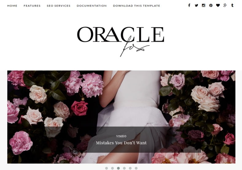 Oracle-Blogger-Template - 54+ Top BEST Free One Page Blogger Templates [year]