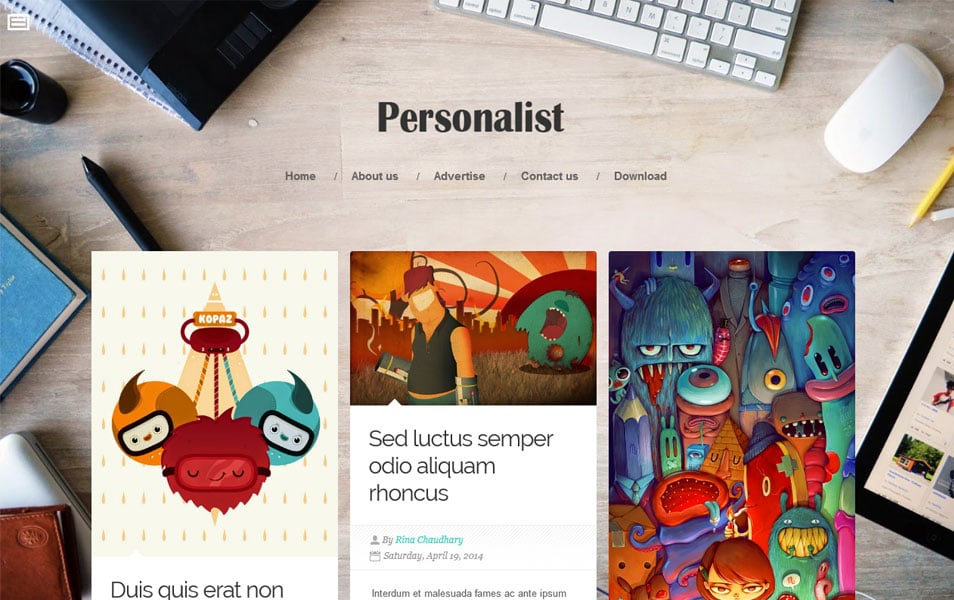 Personalist-Responsive-Blogger-Template - 50+ Top Free Grid Style Blogger Templates 2019