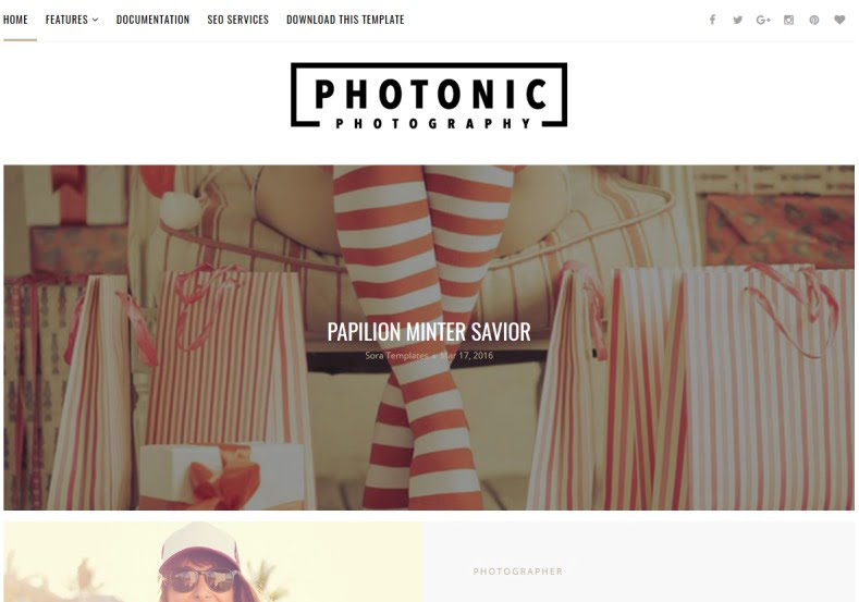 Photonic-Blogger-Template - 54+ Top BEST Free One Page Blogger Templates [year]