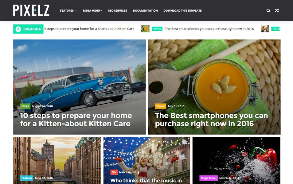 PixelZ-Responsive-Blogger-Template - 111+ Blogger Top Free Magazine Style Templates [year]