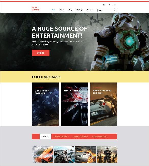 Play-Games-WordPress-Website-Theme - 50 Best Gaming HTML Website Templates 2019