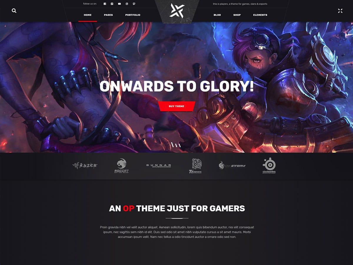 PlayerX-wordpress-gaming-theme - 50+ Best Video Games WordPress Themes 2019