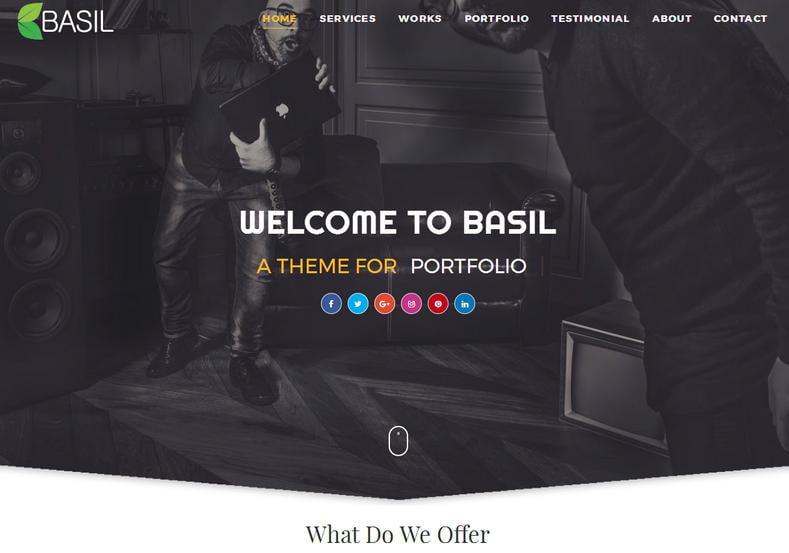 Portfolio - 50+ Top Free Portfolio Blogger Templates [year]