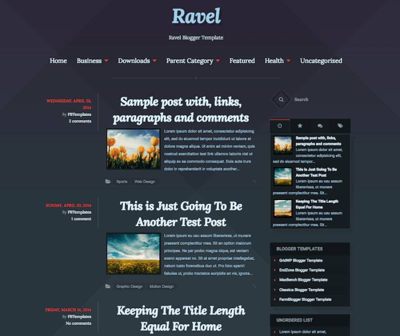 Ravel-Blogger-Template-800x672 - 50+ Top Free Education Blogger Templates 2019