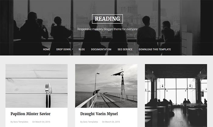 Reading-Blogger-Template - 50+ Top Free Portfolio Blogger Templates 2019