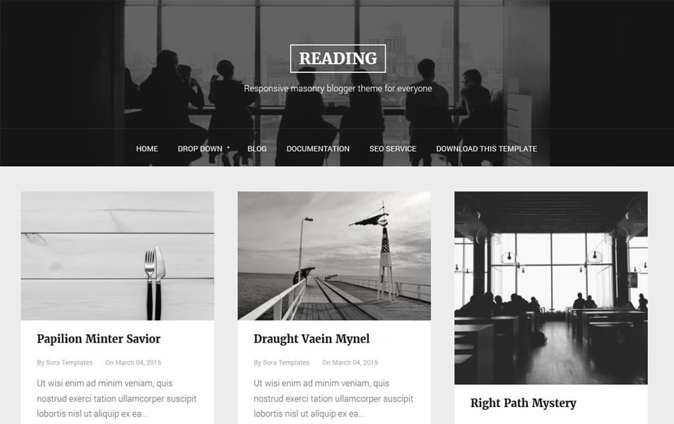 Reading-Responsive-Blogger-Template - 53+ Blogger Top Free Grid Style Templates [year]