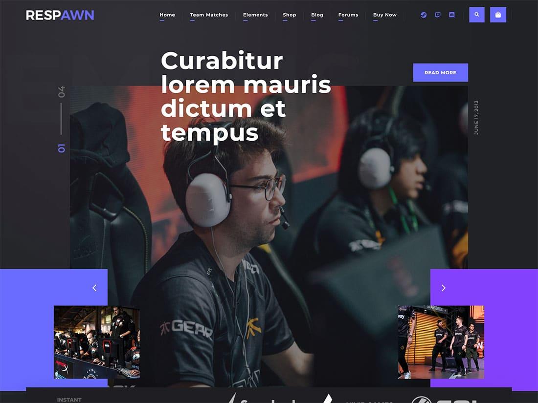 Respawn-Esports-Gaming-WordPress-Theme-1 - 50+ Best Video Games WordPress Themes 2019