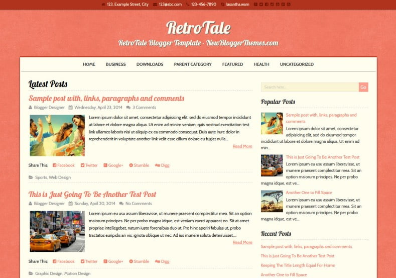 RetroTale-Blogger-Template - 50+ Top Free Web 2.0 Blogger Templates [year]