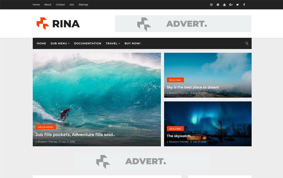 Rina-Responsive-Blogger-Template - 111+ Blogger Top Free Magazine Style Templates [year]