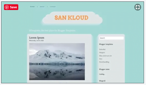 San-Kloud-1 - 50+ Top Free 3D Blogger Templates 2019
